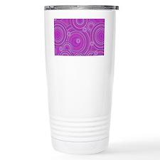 pink circles Travel Coffee Mug