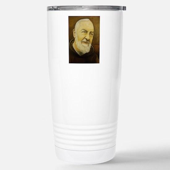 Padre Pio Stainless Steel Travel Mug