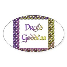 Druid Goddess 2 Oval Decal