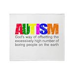 God's autism Throw Blanket