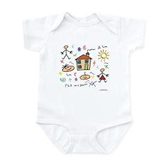 A Masonic gift to a father Mason Infant Bodysuit