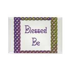 Blessed Be 3 Rectangle Magnet