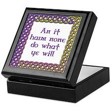 Harm None 1 Keepsake Box