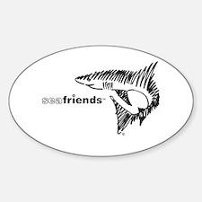 SeaFriends-Shark Oval Decal