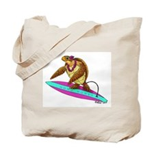 Surfing Turtle Tote Bag