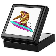 Surfing Turtle Keepsake Box