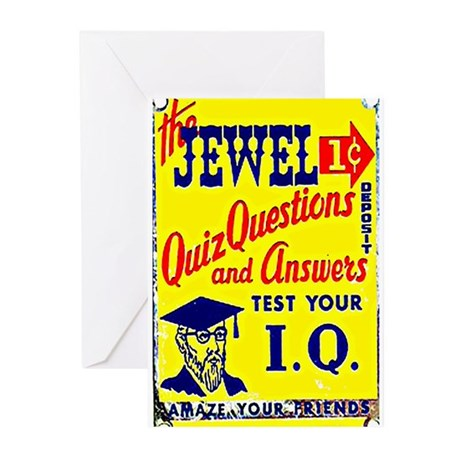 IQ Quiz Greeting Cards (Pk of 10)