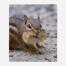 Funny Chipmunk Throw Blanket