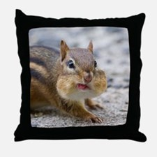 Funny Chipmunk Throw Pillow