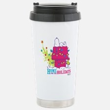Snoopy: Home for the Ho Stainless Steel Travel Mug