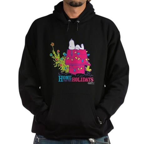 Snoopy: Home for the Holidays Hoodie (dark)