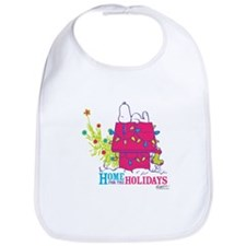 Snoopy: Home for the Holidays Bib