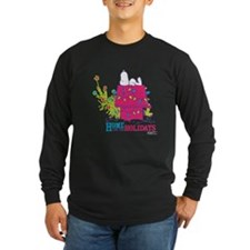 Snoopy: Home for the Holi Long Sleeve Dark T-Shirt