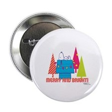 """Snoopy: Merry and Bright 2.25"""" Button"""
