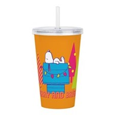 Snoopy: Merry and Brig Acrylic Double-wall Tumbler