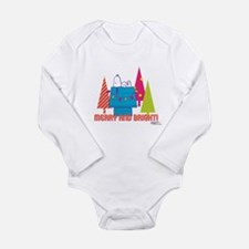 Snoopy: Merry and Brig Long Sleeve Infant Bodysuit