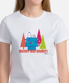 Snoopy: Merry and Bright Women's T-Shirt