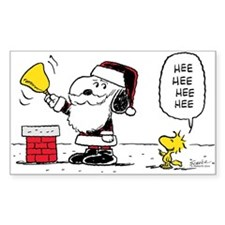 Santa Snoopy and Woodstock Decal
