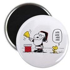 Santa Snoopy and Woodstock Magnet
