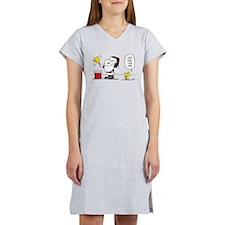 Santa Snoopy and Woodstock Women's Nightshirt