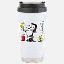 Santa Snoopy and Woodst Travel Mug