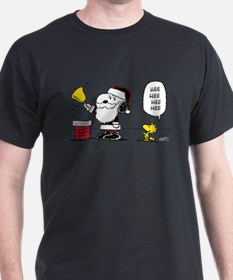 Santa Snoopy and Woodstock T-Shirt