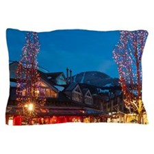 Stores and restaurants of Whistler Vil Pillow Case