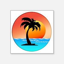 """Cute Sunset Square Sticker 3"""" x 3"""""""
