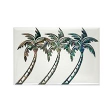 Cute Palm trees Rectangle Magnet