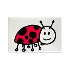 Child Drawn ladybug Rectangle Magnet