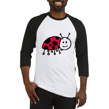 Child Drawn ladybug Baseball Jersey