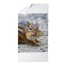 Cute Chipmunk lover Beach Towel