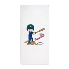 Baseball Boy Beach Towel