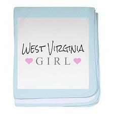 West Virginia Girl baby blanket
