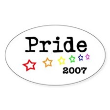 Pride 2007 Oval Decal