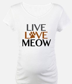 Live Love Meow Cat Lover Shirt