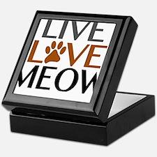 Live Love Meow Cat Lover Keepsake Box