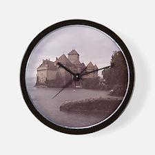 Chillon Castle, Montreux, Switzerland. Wall Clock