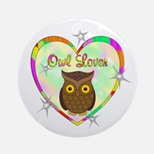 Owl Lover Ornament (Round)
