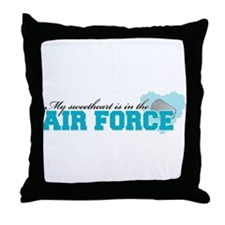 My sweetheart is in the Air F Throw Pillow