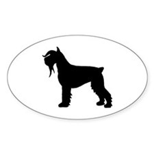Stylized Schnauzer Dog Oval Decal