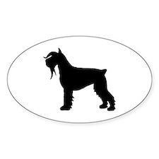 Stylized Schnauzer Dog Oval Decal