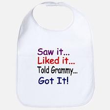 Saw it...Liked it...Told Grammy..Got it! Bib
