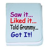 Funny grammy t girls Cotton