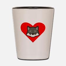 Wolf Heart Shot Glass