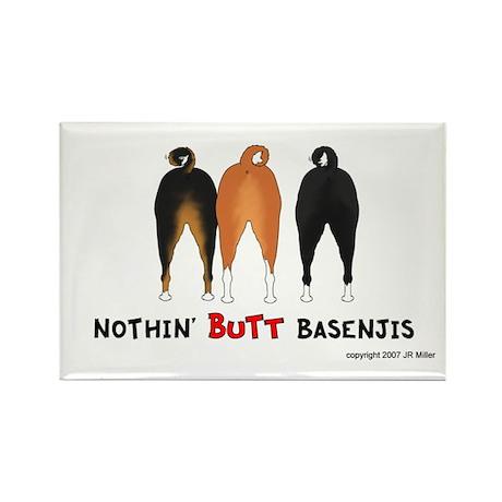 Nothin' Butt Basenjis Rectangle Magnet