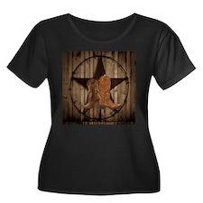 cowboy boots texas star Plus Size T-Shirt