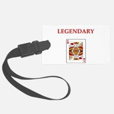 card player Luggage Tag