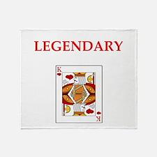 card player Throw Blanket