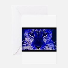 Neon Leopard Greeting Cards